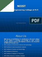 NIIST- Top Most Engineering College of M.P.