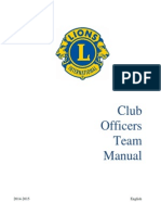 Club Officers Team Manual