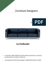 Iconic Furniture Designers