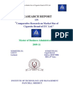 Comparative Research on Market Size of Cigarette Brand of ITC Ltd