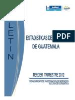 Boletin Estadisticas de Turismo Tercer Trimestre 2012