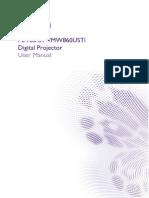 Projector Manual 6986