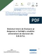 Sistemul Intern de Evaluare Și Asigurare a Calității a Studiilor