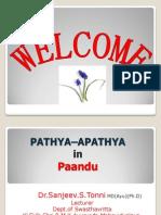 Pathya - Apathya in Paandu