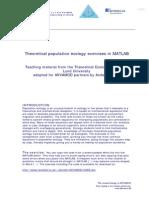 Theoretical Population Ecology Exercises