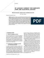 Salman Amin - Monitoring of Leakage Current for Composite Insulators and Electrical Devices