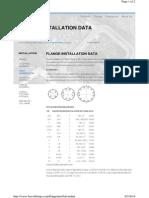 Flange Installation Data
