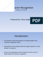 VRGVIN002 Character Recogntion. Using Cross correlation.
