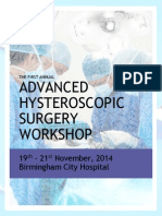 Advanced Hysteroscopic Surgical Course