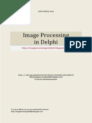 Image Processing in Delphi | Rgb Color Model | Pixel