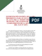 Intervención Presidenta Agosto 2014