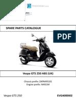 Catalogo Vespa 250 Abs