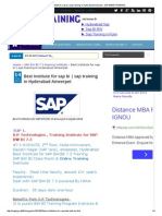 Best Institute for Sap Bi _ Sap Training in Hyderabad Ameerpet - SAP BW_BI TRAINING