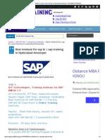 Best Institute for Sap Bi _ Sap Training in Hyderabad Ameerpet - SAP BW_BI TRAINING
