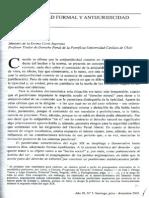 Antijuridicidad Formal y Antijuridicidad Material