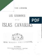 Los Germanos en Las Islas Canarias - Von Loeher, Franz
