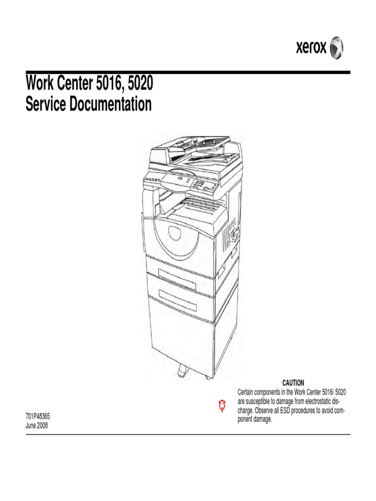 Xerox WC 5016 5020 Service Manua | Troubleshooting | Electrical Connector