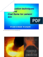 Coal Flames for Cement Kilns