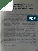 Gazeta Transilvaniei în timpul primului război mondial şi al desăvîrşirii statului unitar român