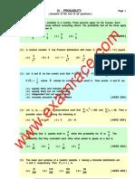 Mathematics Probability MCQ