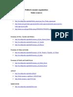Political Economic Organizations Study Resources