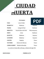 Libreto) Die Tote Statd