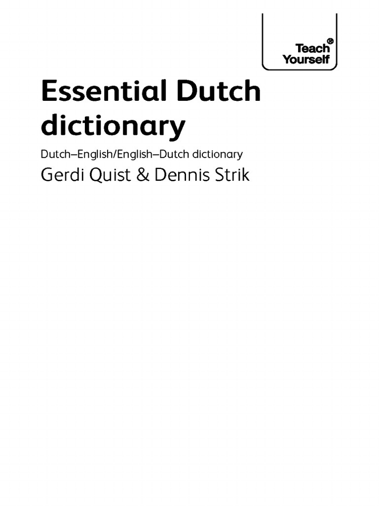 Dutch dictionary malvernweather Choice Image