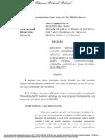 Quinquenio Stf Re Com Agravo 766105