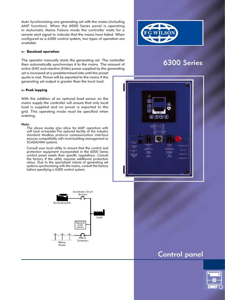 Fg Wilson Control Panel Wiring Diagram - Wiring Diagram ...