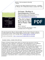 The Art's Heart's Purpose- Braving the Narcissistic Loop of David Foster Wallace's Infinite Jest