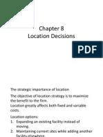 POM J8 Location Decisions
