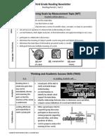 parent newsletter - third grade reading mp1 part 2