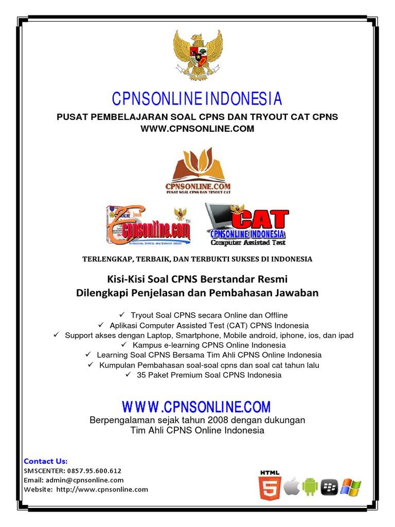 Cpns Online Indonesia Tryout Ke 42