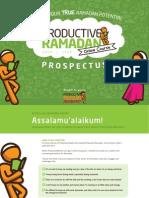 Productive Ramadan Online Course Prospectus