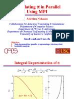 Calculating Mpi Pi