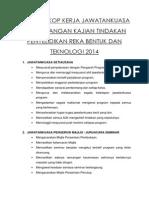 Senarai Skop Kerja Jawatankuasa Pembentangan Kajian Tindakan Penyelidikan Reka Bentuk Dan Teknologi 2014