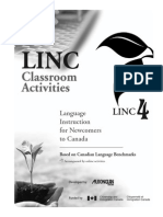 LINC 4 Classroom Activities