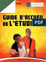 Guide d'accueil de l'étudiant 2014 -2015