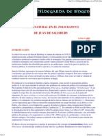 Carbo%La Ley Natural en El Policraticus de J. de Salisbury