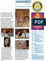 Rotary Club of Kyrenia Liman Newsletter September