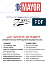 Rob Ford's subway expansion plan