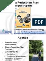 Ottawa Pedestrian Plan  - September 3, 2014