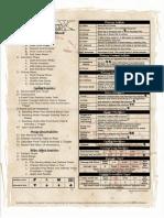 PFreference Sheet
