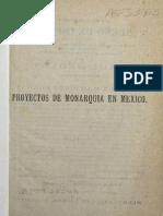 Proyectos de Monarquia en Mexico