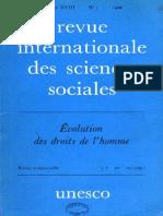 La Revue Internationale Des Sciences Sociales%Droits Del'Homme