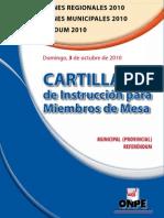 Cartilla Municipal Provincial