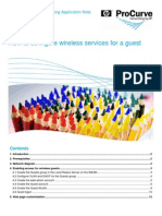 How to Configure Wireless Services for a Guest