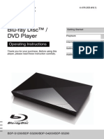 SONY blu-ray guide