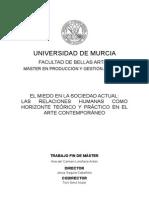 TFM ANA LIMIÑANA ANTÓN EL MIEDO EN LA SOCIEDAD ACTUAL EN EL ARTE CONTEMPORÁENO UMU 2012