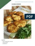 Frittatine Con Zucchina e Patate
